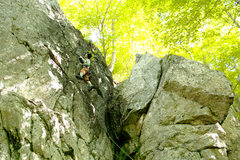 Rock Climbing Photo: One more to give you the location of the route. lo...