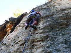 Rock Climbing Photo: The tough middle section of Ice Cream Headache.