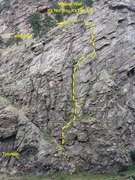 Rock Climbing Photo: Long shot of the whole route.