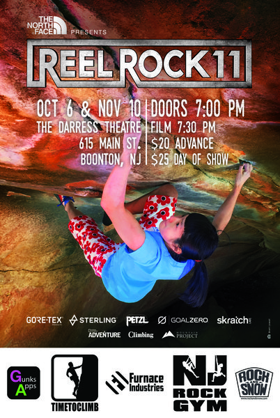 Rock Climbing Photo: Reel Rock 11 - NJ poster