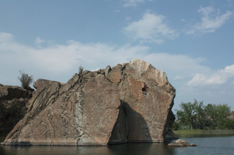 Rock Climbing Photo: banks lake wa
