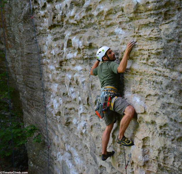 Climbing up Plate Tectonics - http://www.timetoclimb.com/climbing/muir-valley-climbing-in-red-river-gorge/
