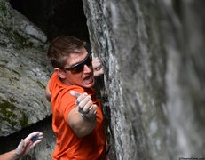 Rock Climbing Photo: Andrew Messick going for the crimp bouldering &quo...