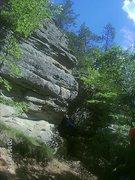 Rock Climbing Photo: Harder climb