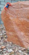 Rock Climbing Photo: On the crux.