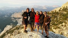 Rock Climbing Photo: Fun birthday - party of eight on Tenaya, don't...