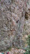 Rock Climbing Photo: Emily feeling the lean