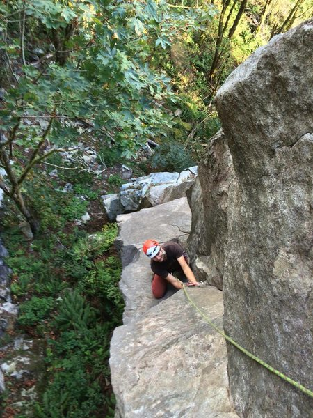 The crux of Freight Night (5.8+).