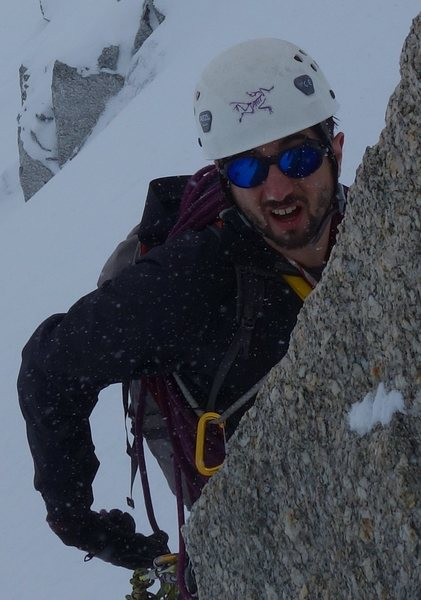 Full conditions on an easy route in chamonix