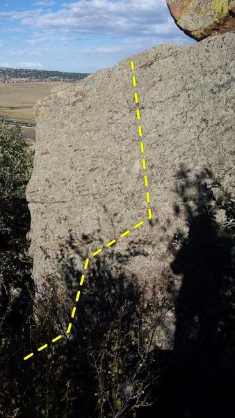 Rock Climbing Photo: Funky Slab.