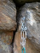 Rock Climbing Photo: Anchor now includes SS wire gate carabiners for ea...