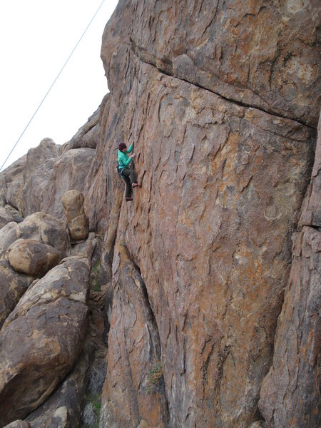 Rock Climbing Photo: Eire Rayas on Tribute 5.9-