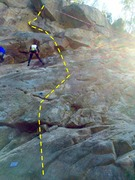 Rock Climbing Photo: Starts with the blue bolt.