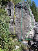 "Rock Climbing Photo: ""Rukanor Riss"" (Yellow) ""Wand""..."