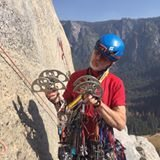 Rock Climbing Photo: Contemplating pro for P15 Salathe Wall. The Valley...