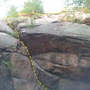 Rock Climbing Photo: Route from Boston Rocks - low angle dihedral to th...