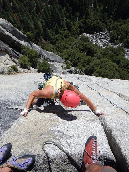 Rock Climbing Photo: Finishing the 4th pitch