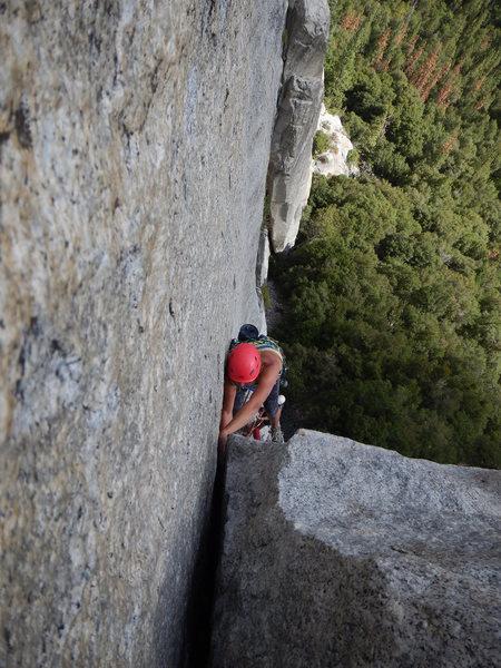 Rock Climbing Photo: Annie Smoot, 3rd pitch