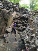 Lauren McGurk (Climber) and Lilly Bill  (belayer) on Got Choss