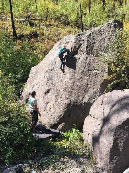Rock Climbing Photo: Layton sending Tuff Dog