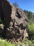 Rock Climbing Photo: The Paver is on the right side of the photo, a v4 ...