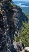 Rock Climbing Photo: In easy jug land, and the exit near the end of Str...