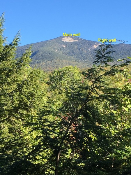 Rock Climbing Photo: Mt Whiteface approach via Mccrillis trail. Note th...