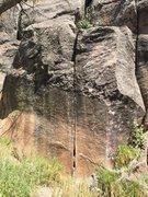 Rock Climbing Photo: Perfect fingers, and a few edges, down climb back ...
