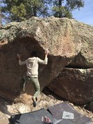 Rock Climbing Photo: Grayson Vogel grapples with the final moves.