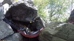 Rock Climbing Photo: Weaker friend's boulder