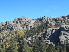 Rock Climbing Photo: Looking into the main part of the area from the to...