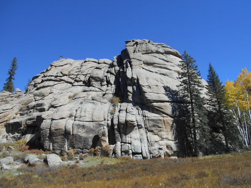 Rock Climbing Photo: The left side of the dome.  We saw about 5 bolted ...