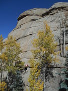 Rock Climbing Photo: Marti Peterson on the route.