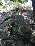 Rock Climbing Photo: Routes 1A, 2, 3, and some of 4