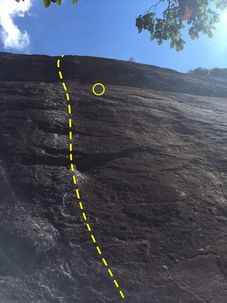 Rock Climbing Photo: More direct view of the route and retrobolt