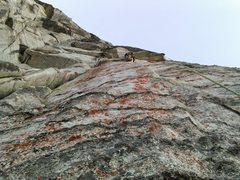 Rock Climbing Photo: John climbering