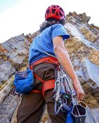 Rock Climbing Photo: Checking out pitch #2
