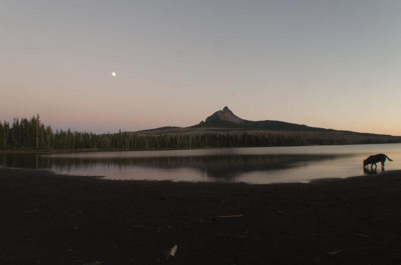 Mt.Washington at sunset from Big Lake