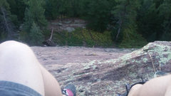 Rock Climbing Photo: About 200' feet up.  The route becomes much mo...