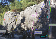 Rock Climbing Photo: View of center part of the wall