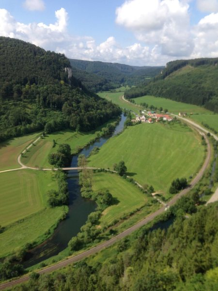 Another view of Donautal, this time from Schreyfels, which is about 5km down the road to the west of Hausen im Tal.