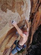 Rock Climbing Photo: Crimping in the crux
