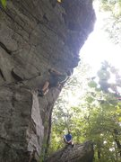 Rock Climbing Photo: Keith starts up Spank Me.  Climber stays on the le...