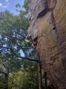 Rock Climbing Photo: Keith is farther up the arete and is just about to...
