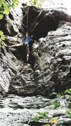 Rock Climbing Photo: Michael is following the route and is stretching t...