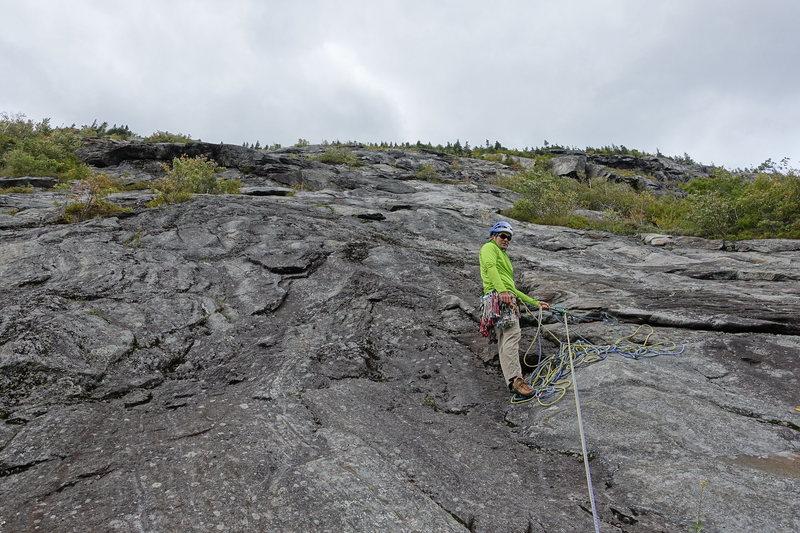 Rock Climbing Photo: First pitch belay