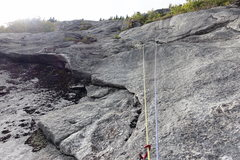 Rock Climbing Photo: Fourth pitch