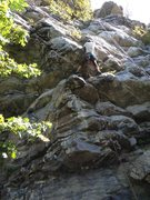 Rock Climbing Photo: About to pull the second roof on Ounce of Percepti...