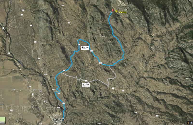 Map to Davis Face.