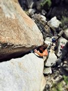 Rock Climbing Photo: Dion getting fully into the jamming section. Onsit...